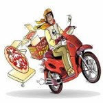 Scooter voor bezorging