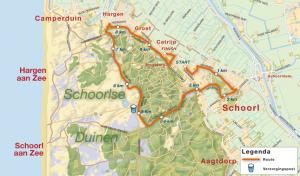 parcours Groet uit Schoorl Run 10km